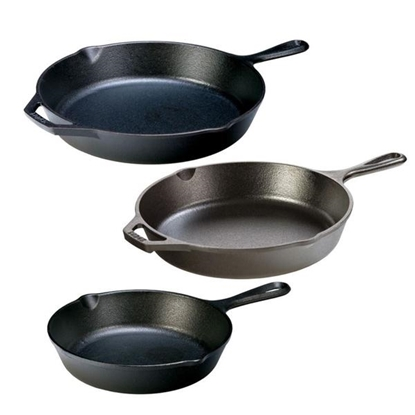 Picture of Lodge® Cast-Iron Skillet Package (8-Inch, 10.25-Inch and 12-Inch)
