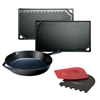 Picture of Lodge® Cast-Iron Two-Burner Reversible Griddle and 12-Inch Skillet Package