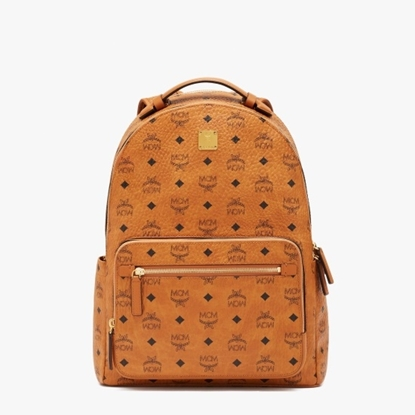 Picture of MCM Stark Backpack 40 - Cognac