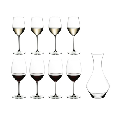 Picture of Riedel Magnum Decanter with 4 Cabernet & 4 Chardonnay Glasses