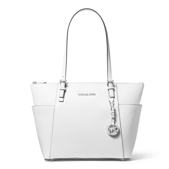 Picture of Michael Kors Jet Set E/W Top-Zip Tote - Optic White