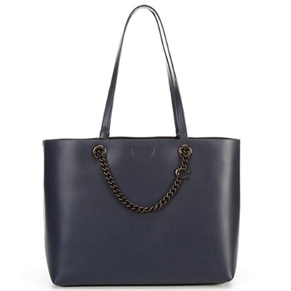 Picture of Coach Leather Signature Chain Convertible Tote