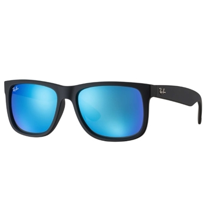 Picture of Ray-Ban® Justin Color Mix - Black Frame/Blue Mirror Lens