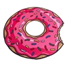 Picture of BigMouth Gigantic Pink Donut Beach Blankets - Set of 2