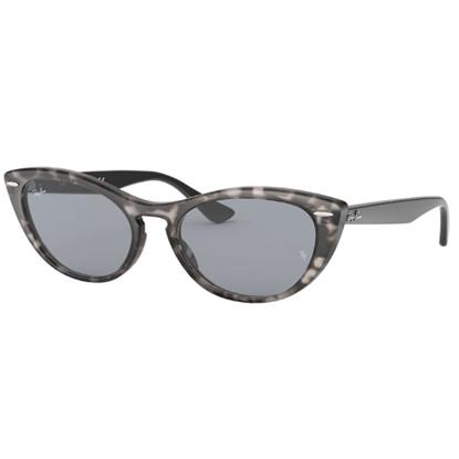 Picture of Ray-Ban® Nina Cat-Eye Sunglasses - Grey Havana/Blue