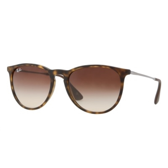 Picture of Ray-Ban Erika Rubber Havana Sunglasses with Brown Lens