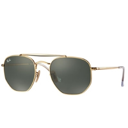 Picture of Ray-Ban Marshal Sunglasses - Gold Hexagonal/Green Lens