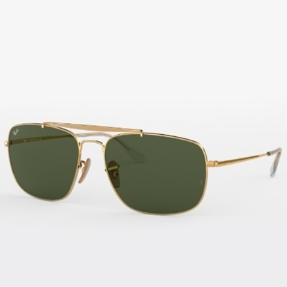 Picture of Ray-Ban® Colonel Sunglasses - Gold/Green Classic Lens