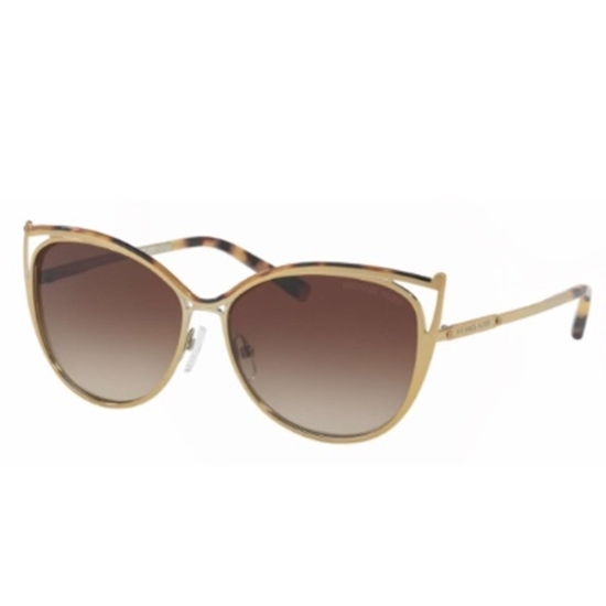 Picture of Michael Kors Ina Sunglasses - Gold Tortoise/Brown Gradient