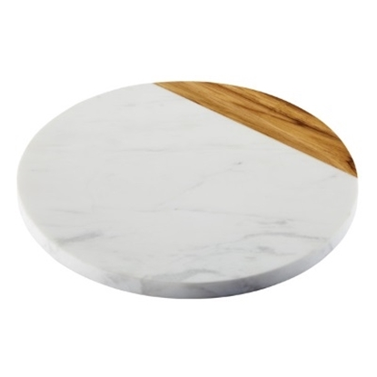 Picture of Anolon® 10'' Round Serving Board - Teak/Marble