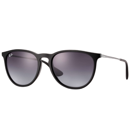Picture of Ray-Ban® Erika Sunglasses with Black Frame and Grey Lenses