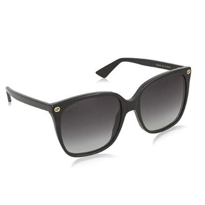 Picture of Gucci Square Cateye Sunglasses - Black/Grey Lenses