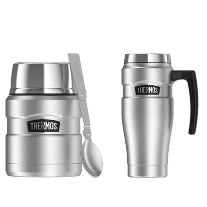 Picture of Thermos Mug & Jar Set - Matte Steel