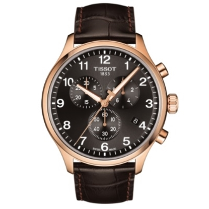 Picture of Tissot Chrono XL Classic with Rose Gold Case and Leather Strap