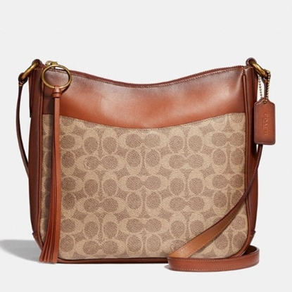 Picture of Coach Signature Chaise Crossbody - Brass/Tan Rust