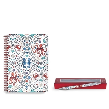 Picture of Vera Bradley Ballpoint & Mini Notebook with Pocket - Sea Life