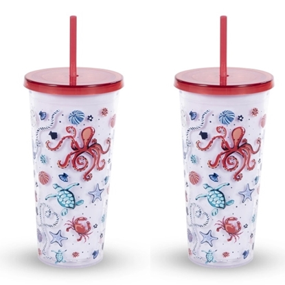 Picture of Vera Bradley Double Walled Tumblers - Sea Life