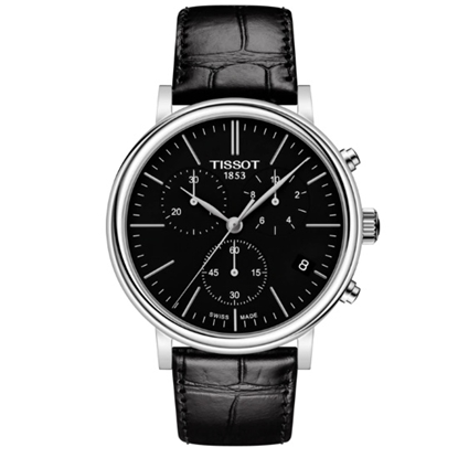 Picture of Tissot Carson Premium Chrono with Black Dial & Leather Strap