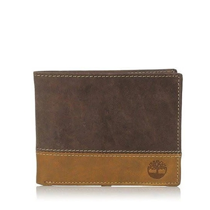 Picture of Timberland Hunter Two-Tone Commuter Wallet - Brown/Tan