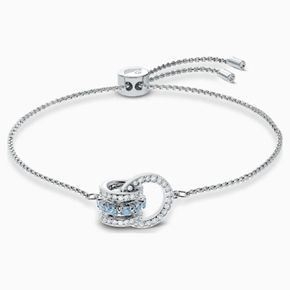 Picture of Swarovski Further Bracelet - Blue/Rhodium