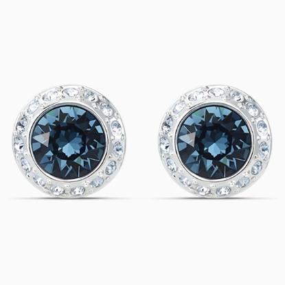 Picture of Swarovski Angelic Stud Pierced Earrings - Blue/Rhodium