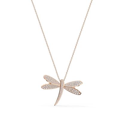 Picture of Swarovski Eternal Flower Necklace Long - Rose Gold