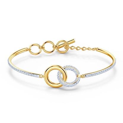 Picture of Swarovski Stone Bangle Medium - Gold-Plated