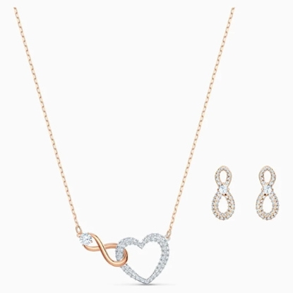 Picture of Swarovski Infinity Heart Set