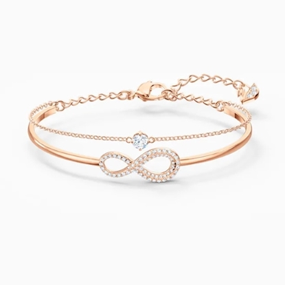 Picture of Swarovski Infinity Bangle - Rose Gold-Tone