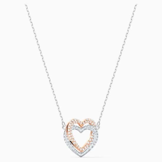 Picture of Swarovski Infinity Double Necklace - Rose Gold