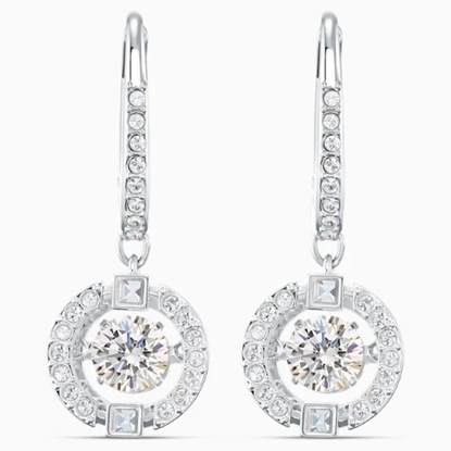 Picture of Swarovski Sparkling Dance Drop Pierced Earrings - Wht/Rhodium