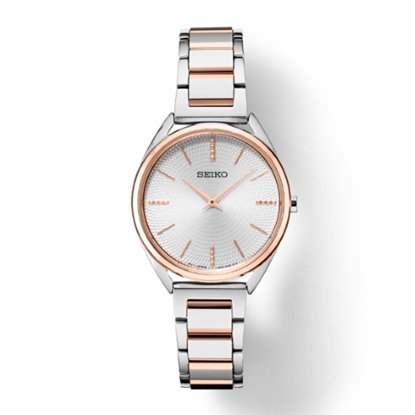 Picture of Seiko Essentials Two-Tone Steel Watch with Silver Dial