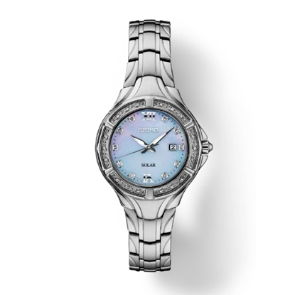 Picture of Seiko Diamond Stainless Steel Watch with Blue MOP Dial