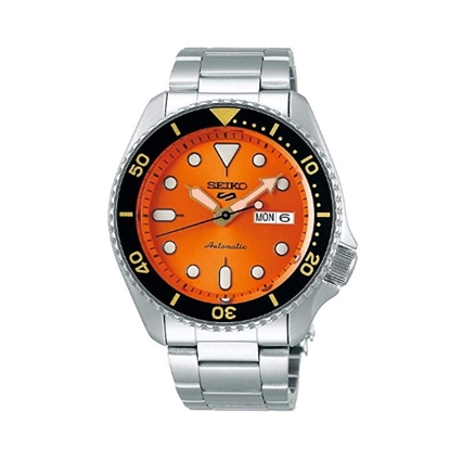 Picture of Seiko 5 Sport Stainless Steel Watch with Orange Dial