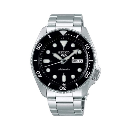 Picture of Seiko 5 Sport Stainless Steel Watch with Black Dial