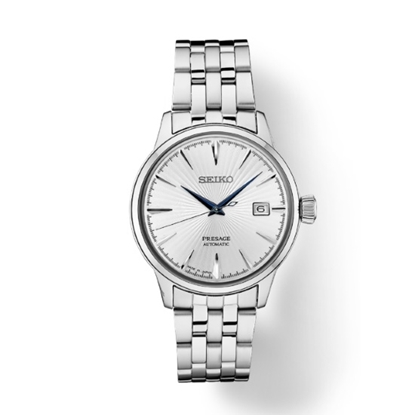 Picture of Seiko Men's Presage Stainless Steel Watch with Silver Dial