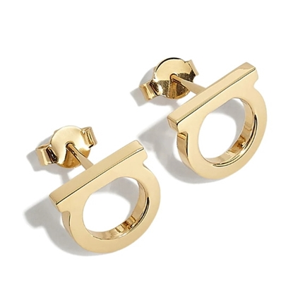 Picture of Salvatore Ferragamo Gancini Earrings 12mm - Gold