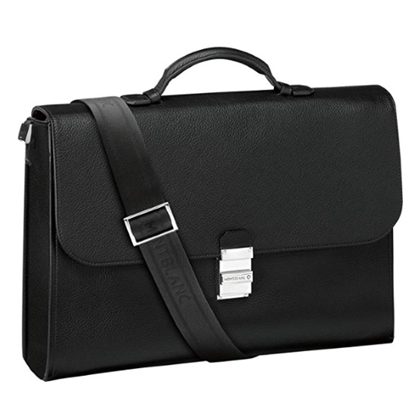 Picture of Montblanc Meisterstuck Soft Grain Single Gusset Briefcase