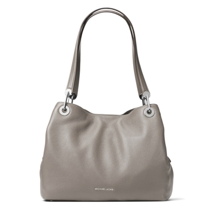 Picture of Michael Kors Raven Large Shoulder Tote - Pearl Grey
