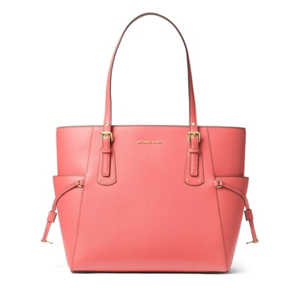 Picture of Michael Kors Voyager E/W Tote - Pink Grapefruit
