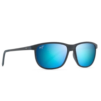Picture of Maui Jim Dragons Teeth Sunglasses- Drk Navy Stripe/Blue Hawaii