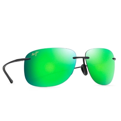 Picture of Maui Jim Hikina Sunglasses - Matte Black/MAUI Green Lens