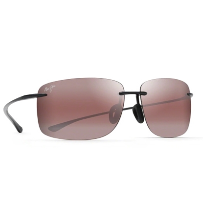 Picture of Maui Jim Hema Sunglasses - Black Gloss/MAUI Rose Lens