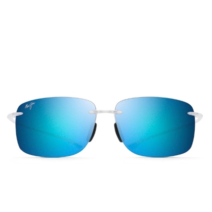 Picture of Maui Jim Hema Sunglasses - Crystal Matte/Blue Hawaii Lens