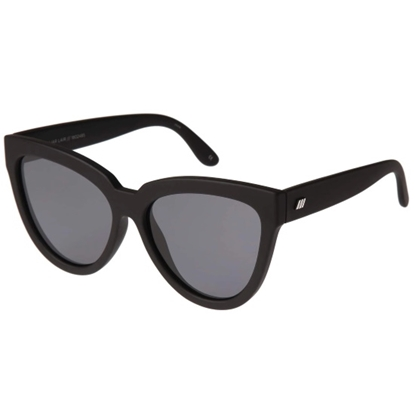 Picture of Le Specs Liar Lair Sunglasses - Black/Smoke Polarized Lens