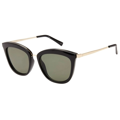 Picture of Le Specs Caliente Sunglasses- Black/Gold Frame with Khaki Lens