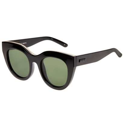 Picture of Le Specs Air Heart Sunglasses - Black Frame/Khaki Lens