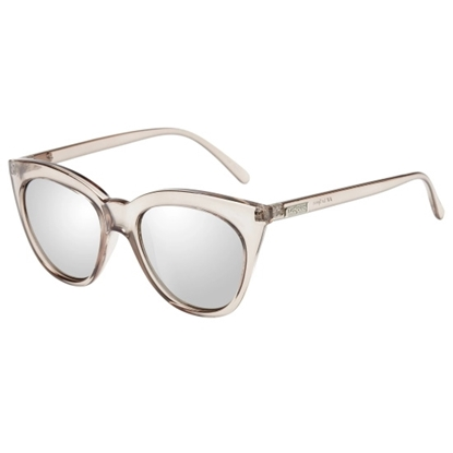 Picture of Le Specs Halfmoon Magic Sunglasses - Stone Frame/Silver Mirror