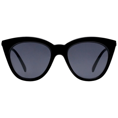 Picture of Le Specs Halfmoon Magic Sunglasses - Black Frame/Smoke Lens