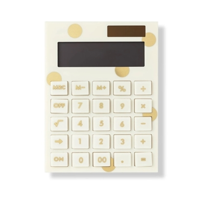 Picture of Kate Spade Acrylic Gold Dot Calculator